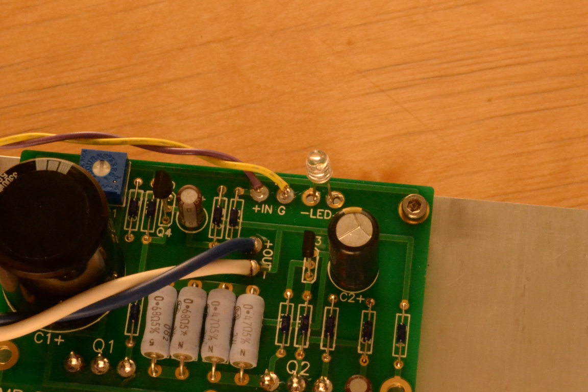 Diyaudio Amp Camp 1 A Pictorial Build Guide Now You Can Solder The Wires To Circuit Board But Before That I We Wire Led In This Example Just Soldered It Directly Some People Will Want Extend Their Front Panel With Extra