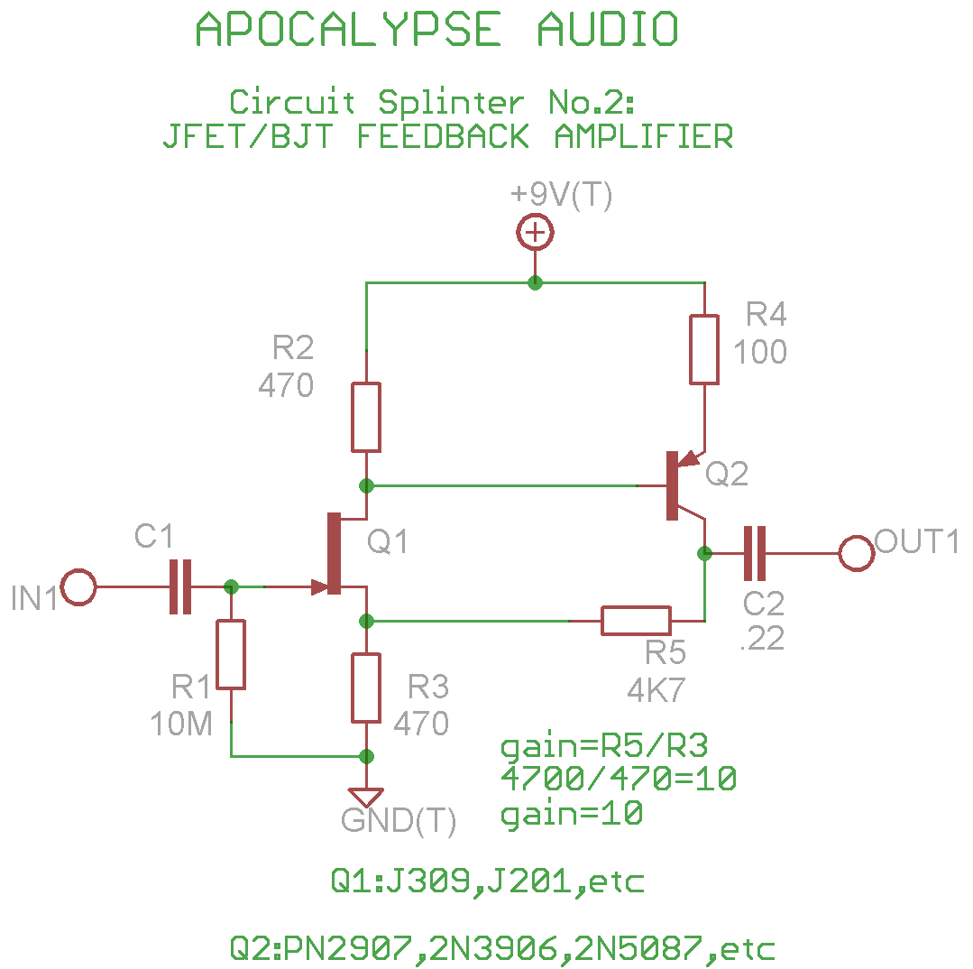 Acoustic Guitar Amplifier Circuit Diagram And Preamplifier Activator 2 Fet Preamp For Guitars Basses Diyaudio