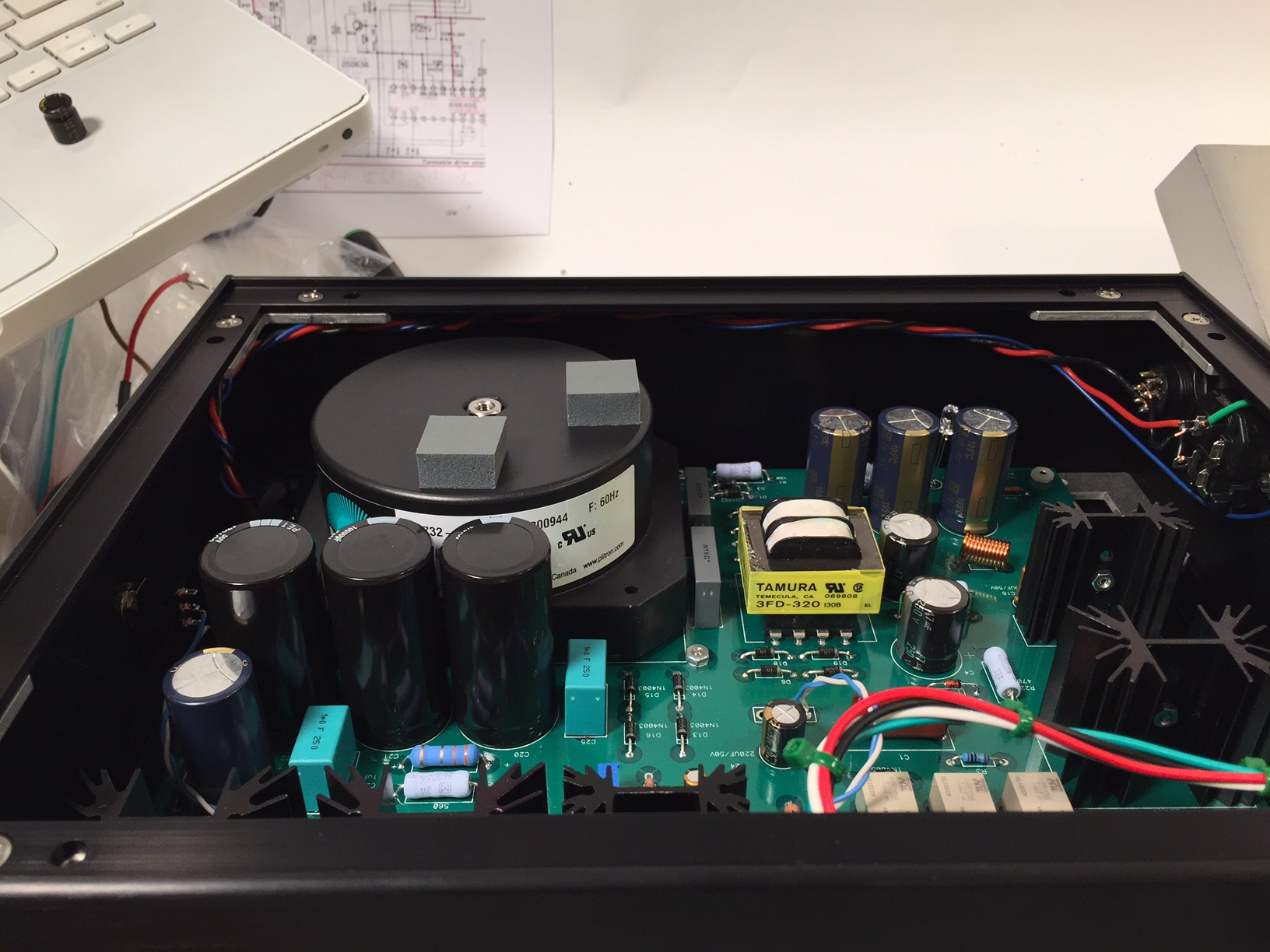 The Next Technics Project Sp 10 Page 4 Pass Labs Aleph2 Diy Amplifier Kkpcb Layout My Preferred Power Indication Place A Very Bright Blue Its Design After All Led In Chassis Aimed Towards Vent Holes