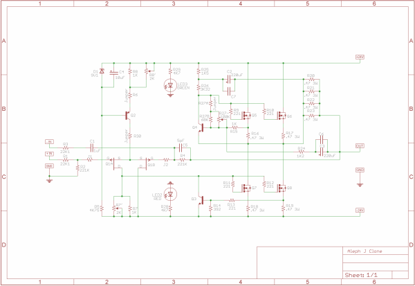 aleph j illustrated build guide  diyaudio, schematic