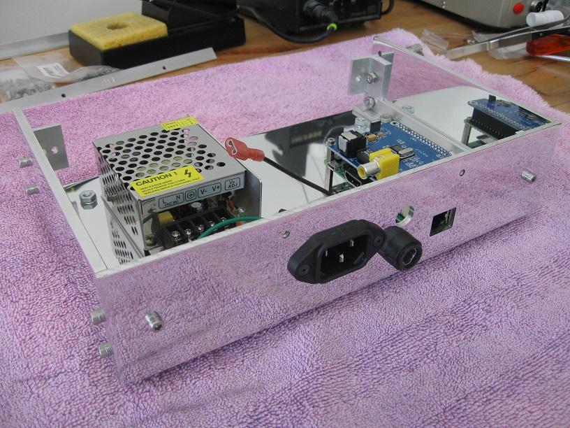 Custom built case for Raspberry Pi music streamer-back_panel_installed-jpg