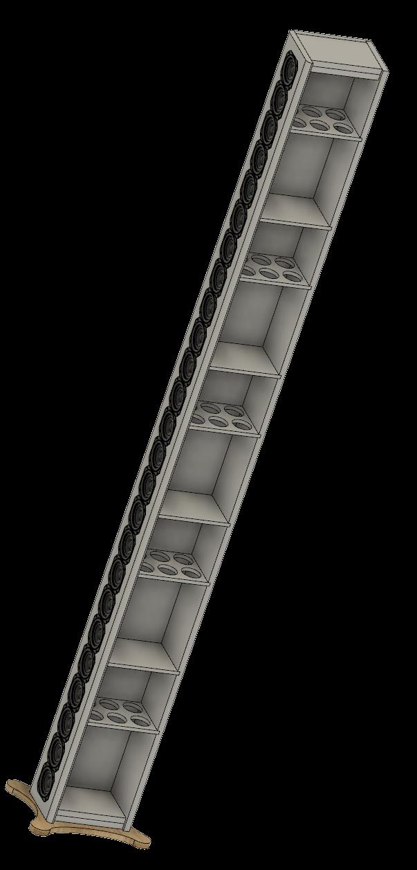 Full Range TC9 Line Array CNC Cabinet-cabinet-v5-png