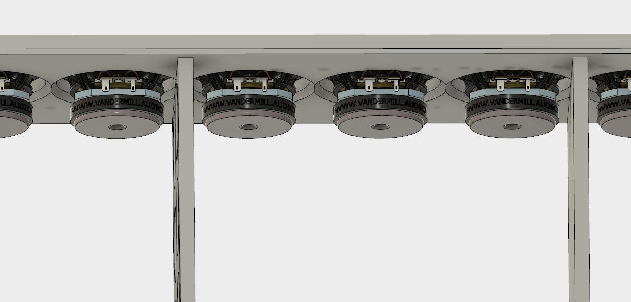 Full Range TC9 Line Array CNC Cabinet-cabinet-v6-baffle-chamfer-png