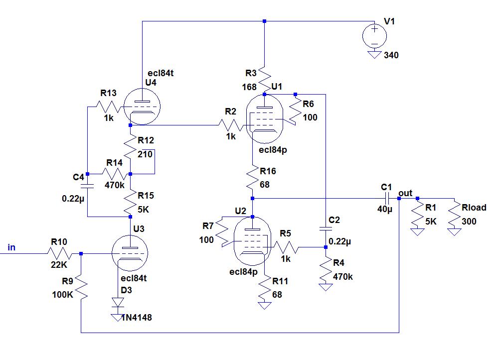 OTL tubes amplifier based on the ecl84-capturer-png