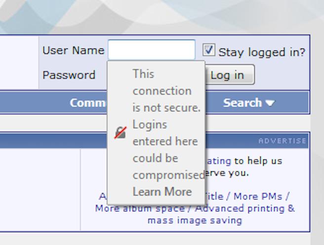 Login not secure (over plain HTTP)-firefox-png