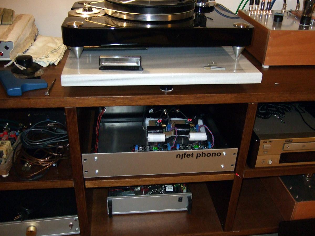 Simplistic NJFET RIAA-foldedprotosinstalled-jpg