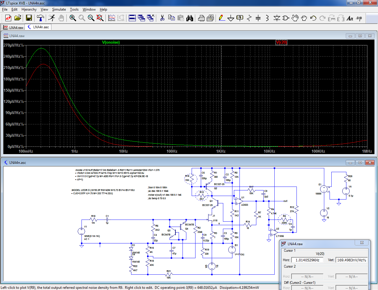 Sanity-check + end-result: a x 1000 measurement preamplifier-lna21-png