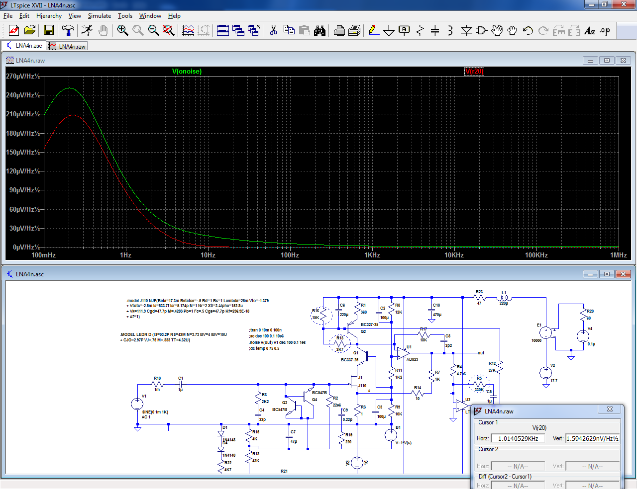 Sanity-check + end-result: a x 1000 measurement preamplifier-lna22-png