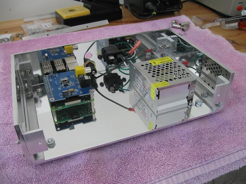 Custom built case for Raspberry Pi music streamer-ready_for_faceplate-jpg