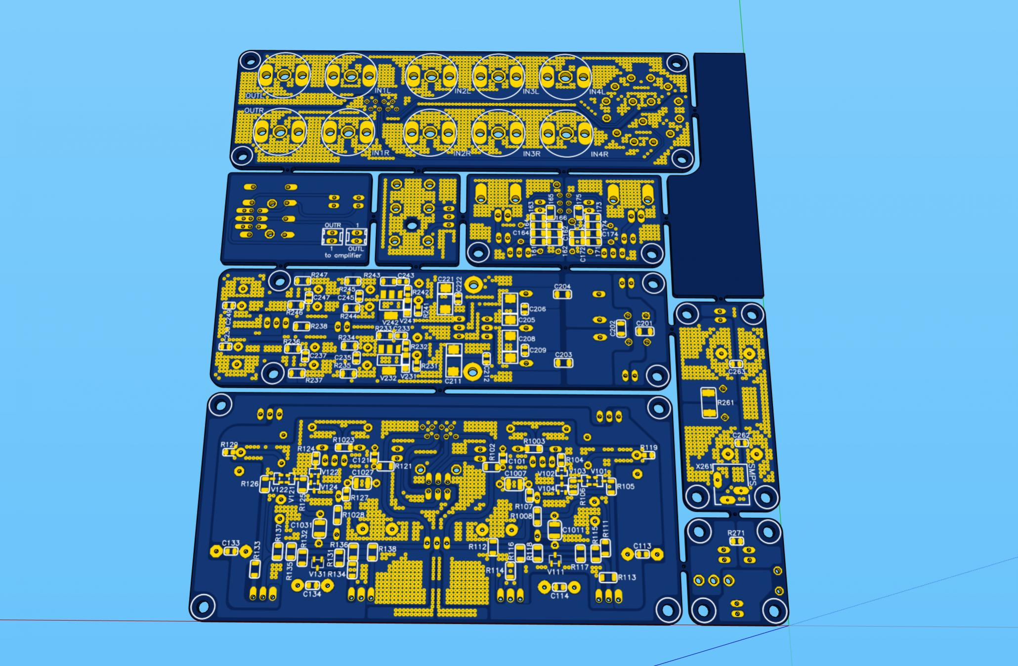 Simple High Performance DC Coupled Class A HPA with sub PPM THD-shpa-pcb-bot-2-jpg