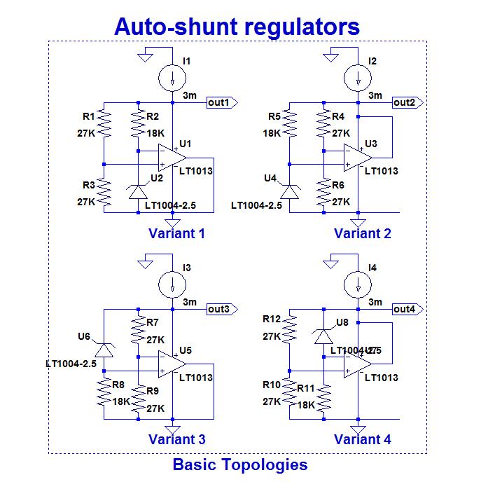 Opamps self-supply with AutoShunt regulators-shuntreg0-png