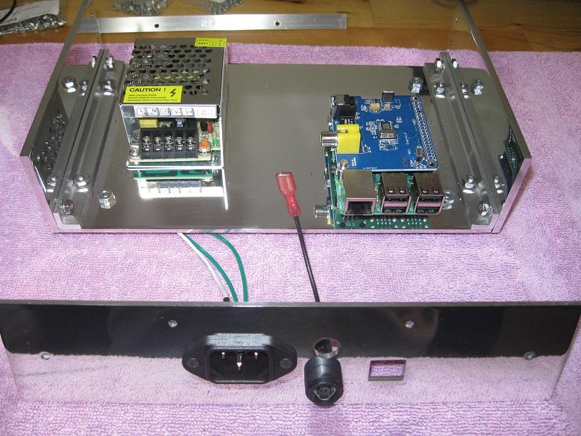 Custom built case for Raspberry Pi music streamer-side_plates_installed-jpg