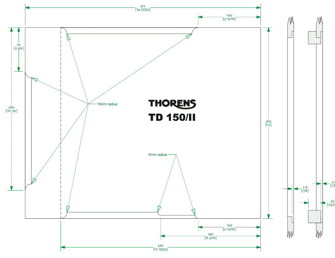 Plinth for Thorens 150 & 160-td150ii-plinth-png